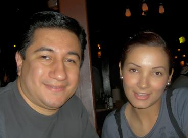 El autor con su esposa, Mili